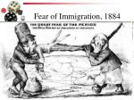 fear of immigration 1884