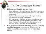 iv do campaigns matter
