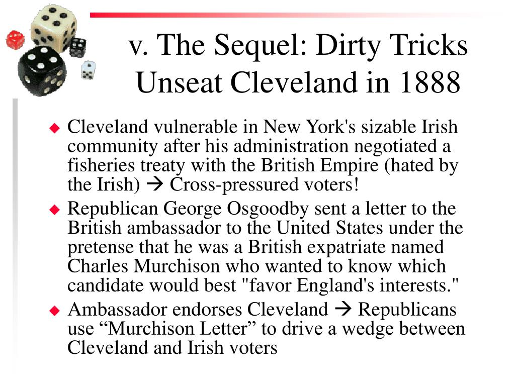 v. The Sequel: Dirty Tricks Unseat Cleveland in 1888
