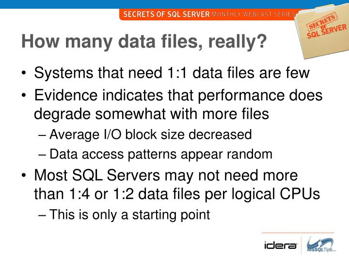 How many data files, really?