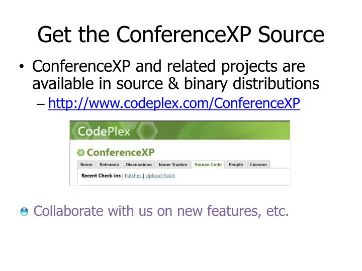 Get the ConferenceXP Source