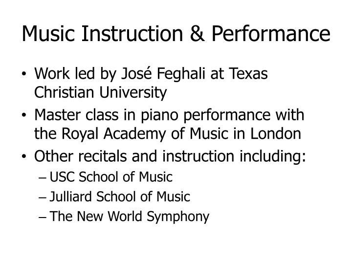 Music Instruction & Performance