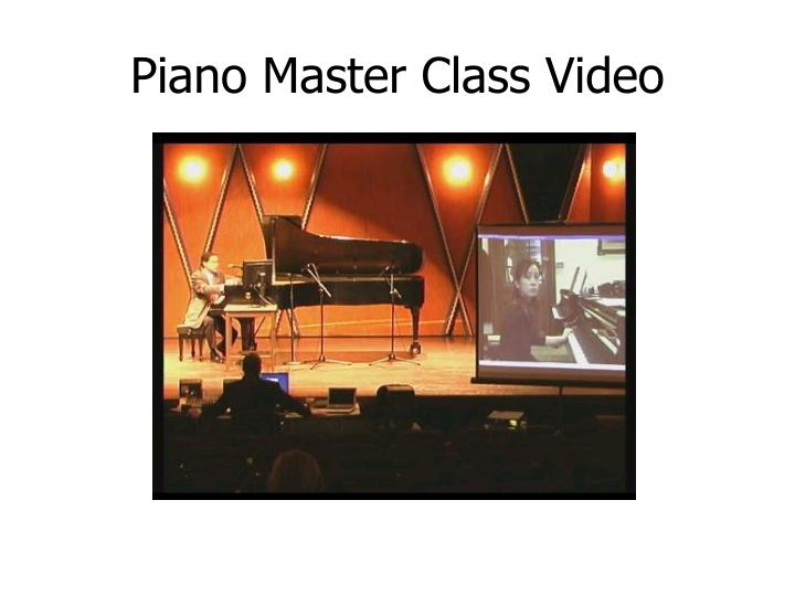 Piano Master Class Video
