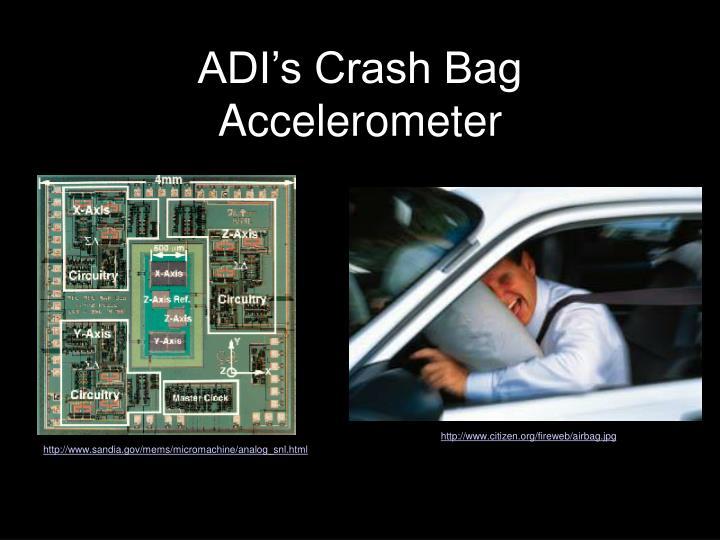 ADI's Crash Bag Accelerometer