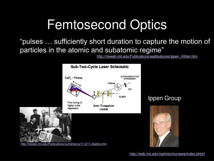 Femtosecond Optics