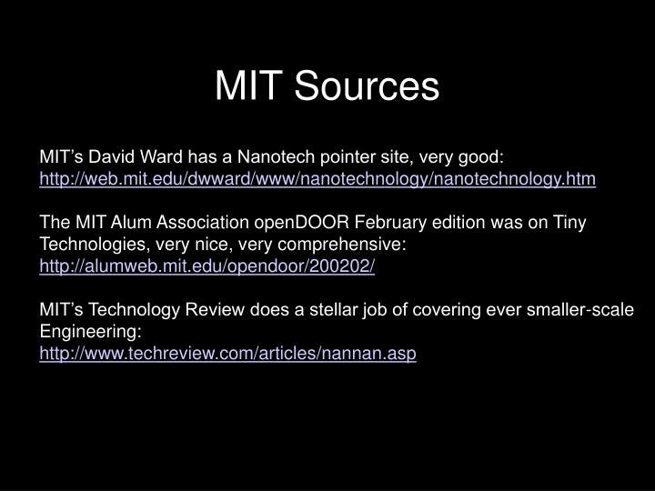 MIT Sources