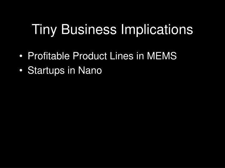 Tiny Business Implications