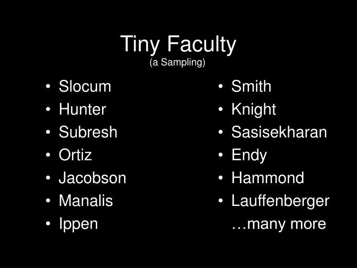 Tiny Faculty