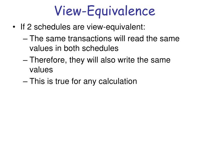 View-Equivalence