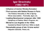 igor stravinsky 1882 1971