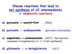choose reactions that lead to net synthesis of cc intermediates anaplerotic reactions1