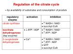 regulation of the citrate cycle