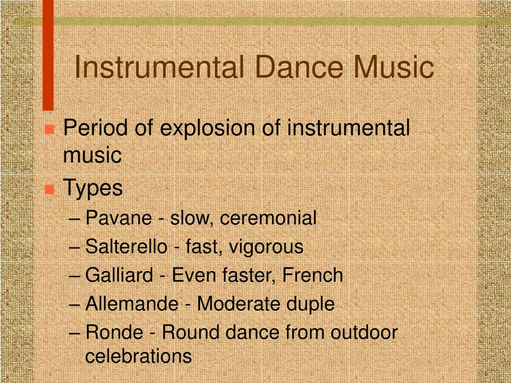 Instrumental Dance Music