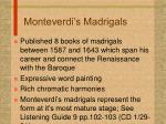 monteverdi s madrigals