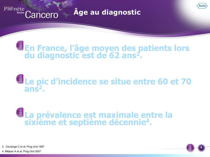 Âge au diagnostic