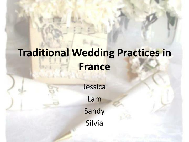 Traditional wedding practices in france