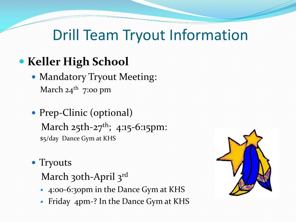 Drill Team Tryout Information