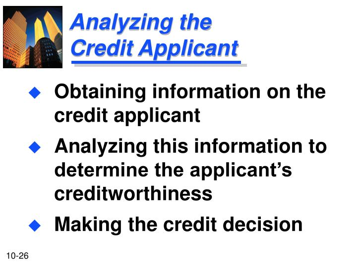Analyzing the Credit Applicant