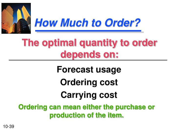 How Much to Order?