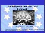 the european steel and coal community