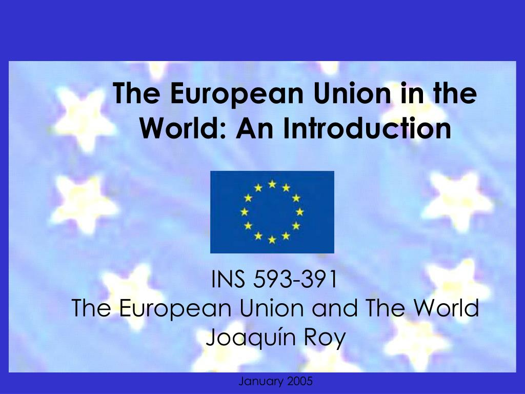 the european union in the world an introduction l.