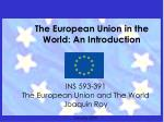 the european union in the world an introduction
