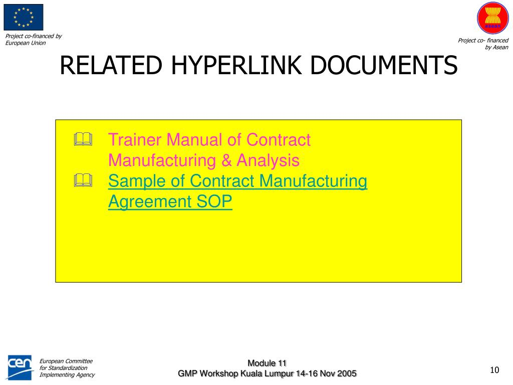 RELATED HYPERLINK DOCUMENTS