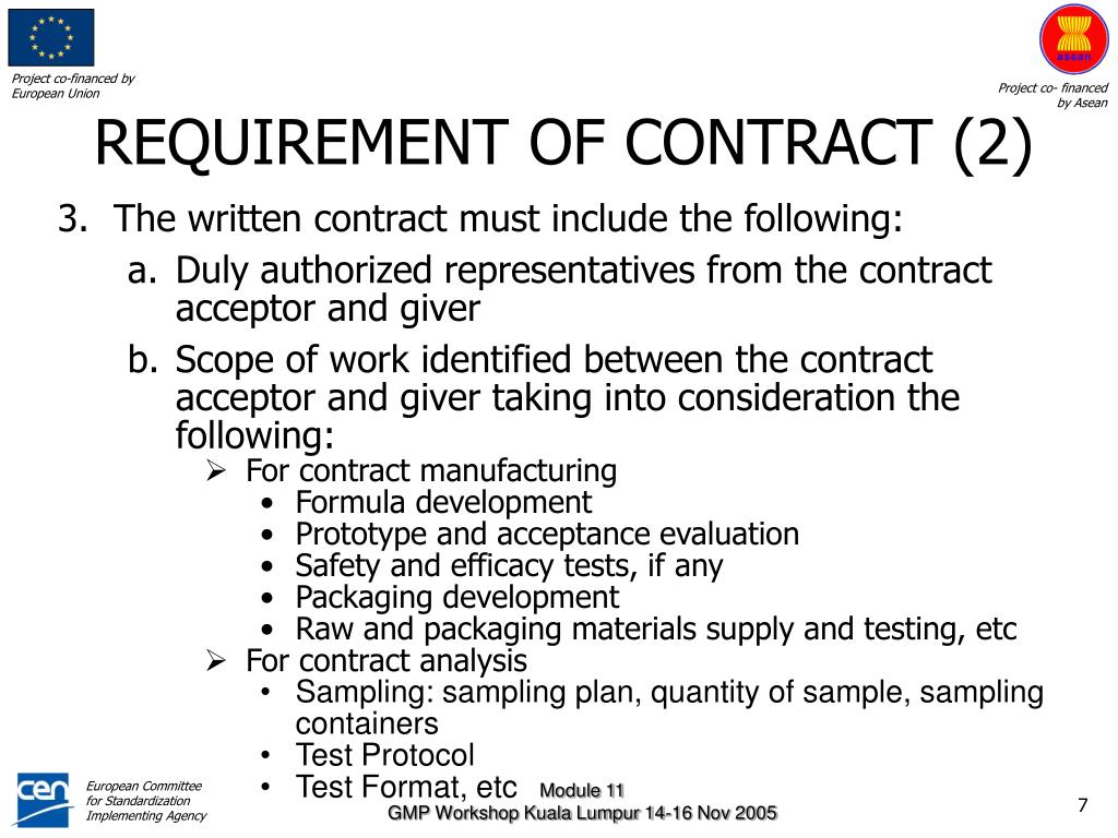 REQUIREMENT OF CONTRACT (2)