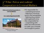 3 rd pillar police and judicial cooperation in criminal matters
