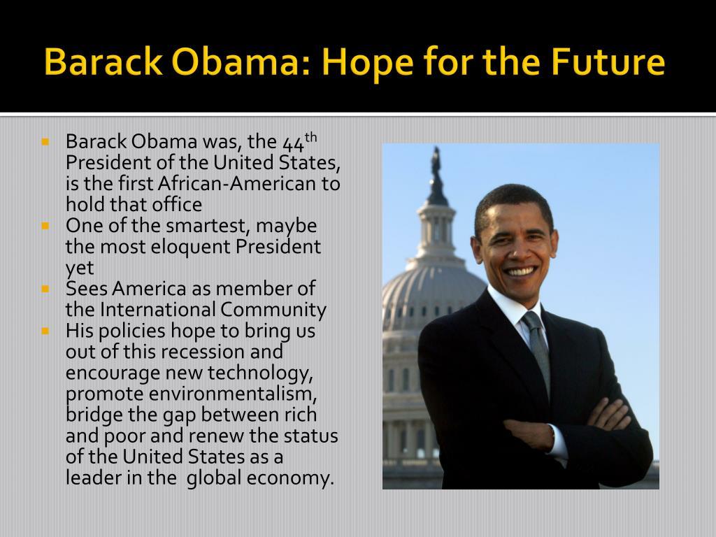 Barack Obama: Hope for the Future