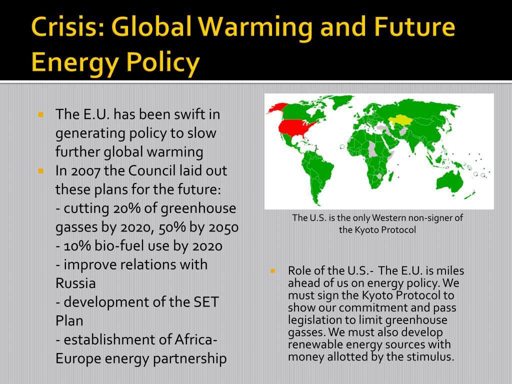 Crisis: Global Warming and Future Energy Policy