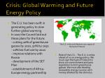 crisis global warming and future energy policy