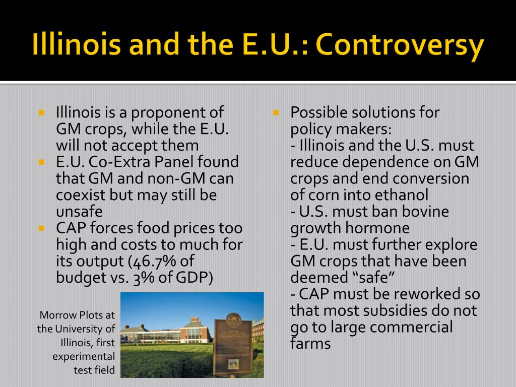 Illinois and the E.U.: Controversy