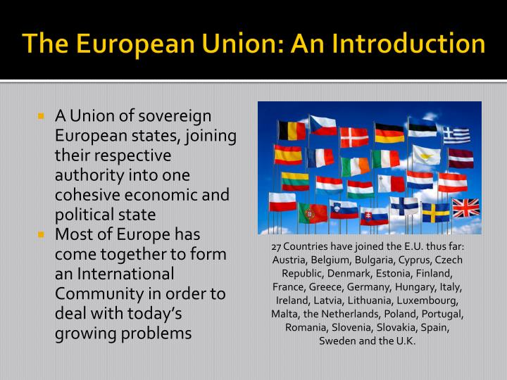 The european union an introduction