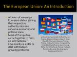 the european union an introduction