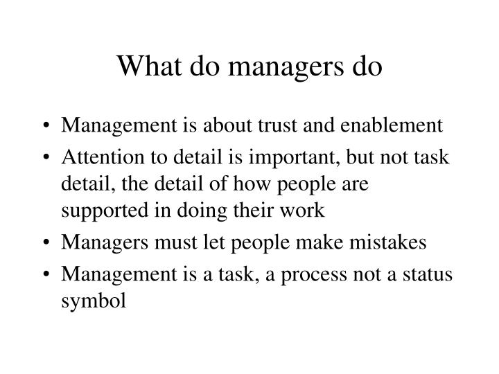 what do managers do What do airport managers do airport managers oversee the daily activities at airports, assuring regulations are followed, safety is maintained and jobs are completed on time they are the primary point of contact for other airport administrators, airline officials as well as the public.