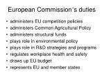 european commission s duties