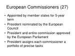 european commissioners 27