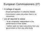 european commissioners 277