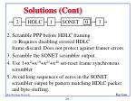 solutions cont