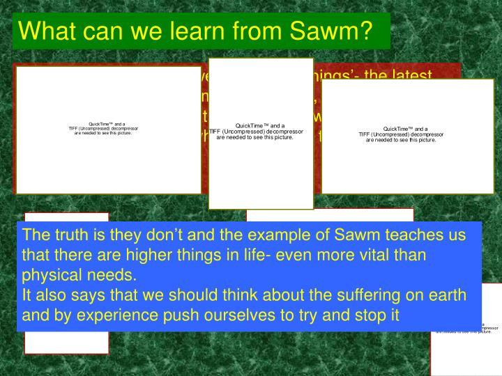 What can we learn from Sawm?
