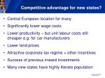 competitive advantage for new states