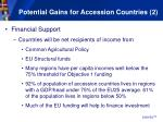 potential gains for accession countries 2