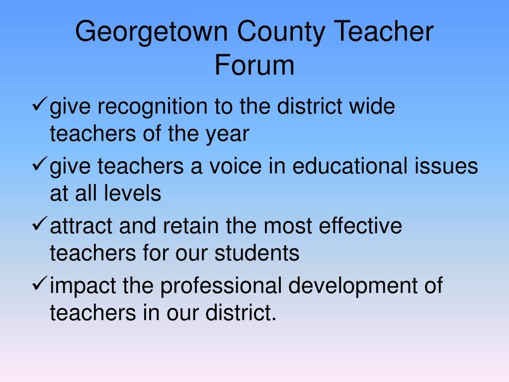 Georgetown County Teacher Forum