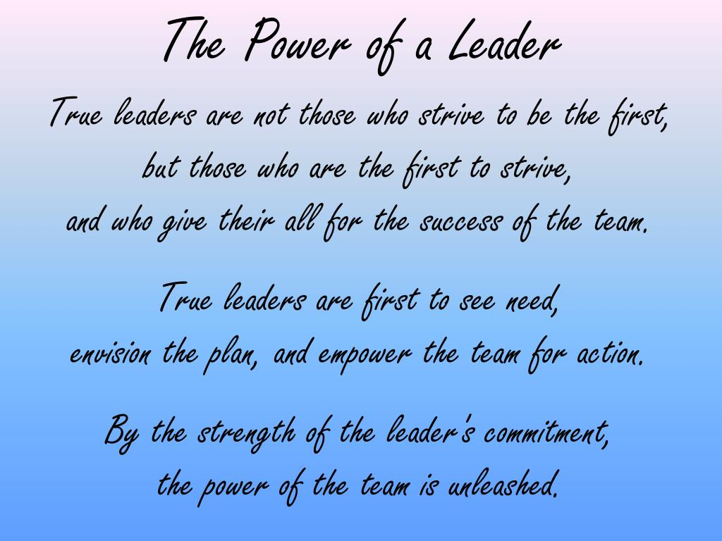 The Power of a Leader