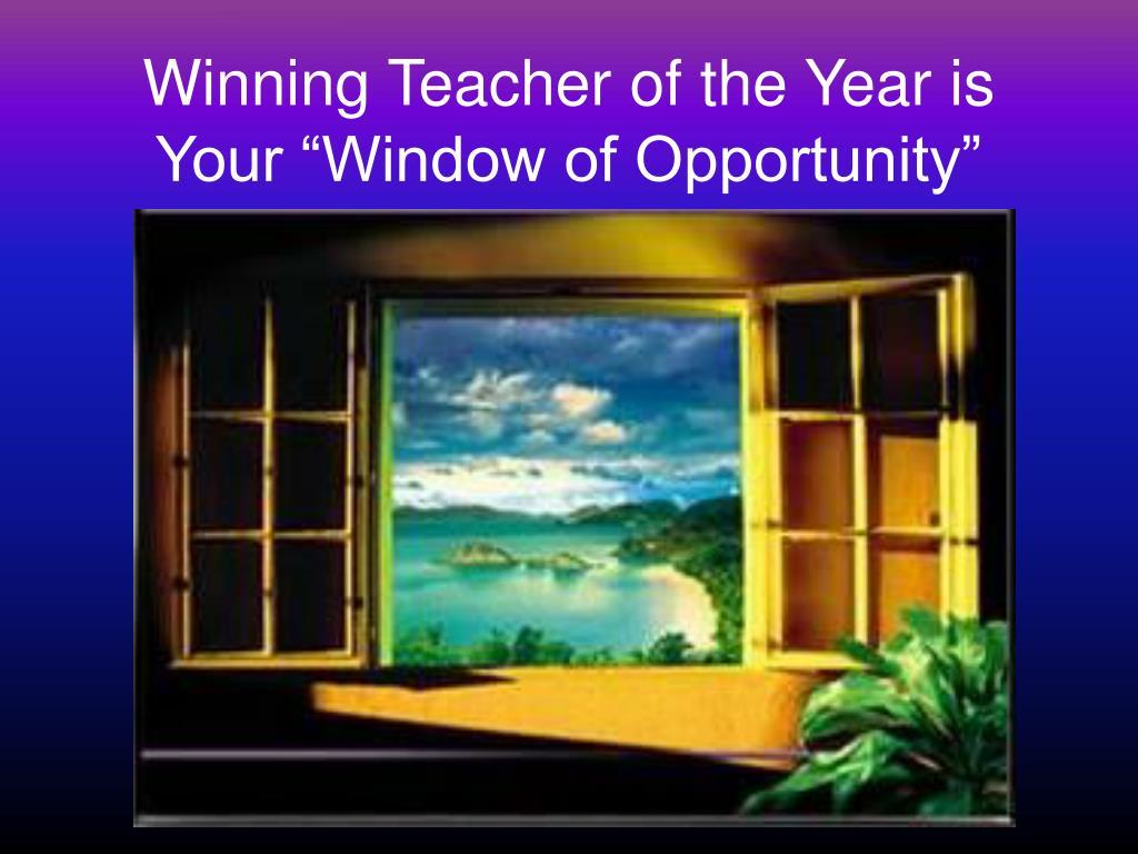 Winning Teacher of the Year is
