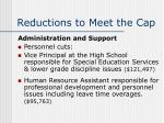 reductions to meet the cap16