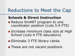 reductions to meet the cap18