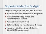 superintendent s budget