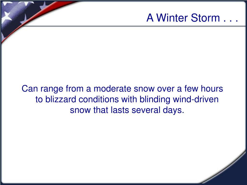 a winter storm l.